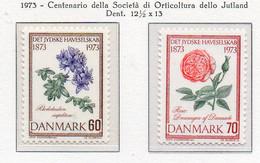 PIA - DANIMARCA -1973 : Centenario Della Società Di Orticoltura Dello Jutland  - (Yv  552-53) - Agricoltura