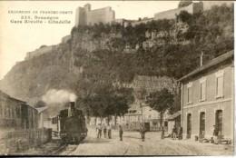 Dpt 25 Besancon Gare Rivolte Citadelle, Arrivee Du Train No335 Ed Gaillard Animee 1919 EV TBE - Besancon