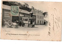 CIE DES MESSAGERIES AUTOMOBILES LE GAREGA DE QUILLEBEUF TRES ANIMEE - Bus & Autocars