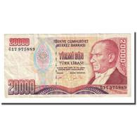 Billet, Turquie, 20,000 Lira, L.1970, KM:202, TB - Turquie