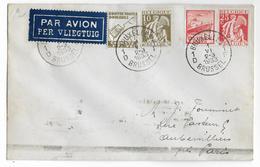 1933 - BELGIQUE - TIMBRES PUBLICITES Sur LETTRE De BRUXELLES Par AVION => AUBERVILLIERS - Belgique