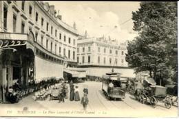 Dpt 31 Toulouse Place Lafayette Et Hotel Capoul, Omnibus Et Attelages Animee 1912 Neuve BE - Francia