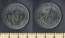 Bolivia 5 Pesos Bolivianos 1980 - Bolivia