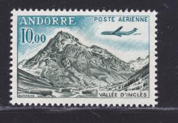 ANDORRE AERIENS N°    8 ** MNH Neuf Sans Charnière, TB (D8288) Vallée, Avion Caravelle - 1961-64 - Posta Aerea