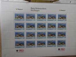 Österreich Personalierte Marken Burg Hohemzollern Bogen 20 Stück Postfrisch (7002) - Österreich