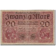 Billet, Allemagne, 20 Mark, 1918-02-20, KM:57, B+ - [ 2] 1871-1918 : Empire Allemand