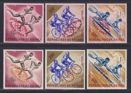 GUINEE AERIENS N°   42 à 47 ** MNH Neufs Sans Charnière, TB (D8290) Jeux Olympiques De Tokyo - 1964 - República De Guinea (1958-...)