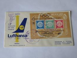 Uruguay Lufthansa First Flight Cover 1972 - Uruguay