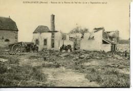 Dpt 51 Courgivaux Ruines De La Ferme De Bel-Air Guerre 14-18 - Altri Comuni