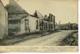 Dpt 51 Gourgancon Rue Principale Guerre 14-18 Bataille De La Marne - Altri Comuni