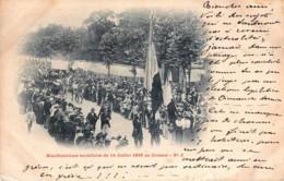 France - 71 - Précurseur - Le Creusot - Manifestations Socialistes Du 14 Juillet 1899 N° 2 - Le Creusot