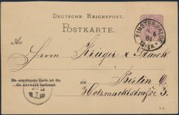 Deutsches Reich Ganzsache P 13 Frageteil Mit Druckdatum 9 83 Finsterwalde Berlin - Briefe U. Dokumente