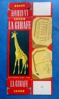 Ancienne Boite  Vide En Carton De Savon LA GIRAFE- A Plat - Autres Collections