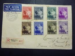 BELGIE BRIEF UIT 1935 GEST.( COB ) COTE : ... EURO - Documents De La Poste
