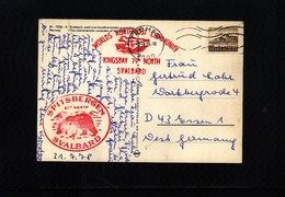 Norway 1978 Spitsbergen Kingsbay  Interesting Postcard - Stations Scientifiques & Stations Dérivantes Arctiques