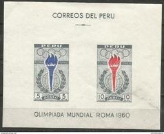 Peru  - 1960 Olympics S/sheet  MNH **   Sc C173a - Peru