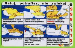 Voyo POLAND CRACOW Monthly Ticket  FIRST AID 2004 Plastic Card - Week-en Maandabonnementen
