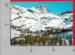 CARTOLINA VG ITALIA - CERVINIA BREUIL (AO) - Il Cervino E Panorama - 10 X 15 - ANN 1972 - Andere Städte