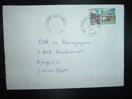 LETTRE TP ST LAURENT DU MARONI 3,00 OBL.25-3 1997 89 QUARRE LES TOMBES YONNE - Marcophilie (Lettres)