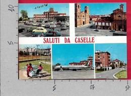 CARTOLINA VG ITALIA - Saluti Da CASELLE TORINESE (TO) . Panorama Vedutine - 10 X 15 - ANN 198? - Saluti Da.../ Gruss Aus...