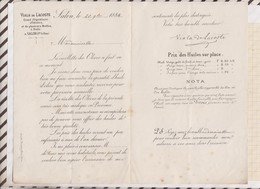 81067 Lettre Tarif M VIALA DE LACOSTE OLIVIERS MOULINS A HUILE SALON / 1884 - 1800 – 1899