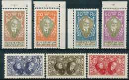 NB - [12176]N° 82/88, Sans Le 5F Vert, N° 83 **, Prince Jean II, Dont Bord Et Coin De Feuille, Belle Fraîcheur - Liechtenstein