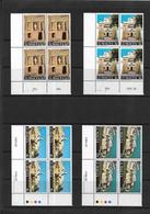 Malta 1980 Restoration, Complete Set In Corner Marginal MNH Blocks Of Four (7488) - Malte