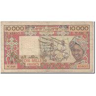 Billet, West African States, 10,000 Francs, KM:408Dg, TB - États D'Afrique De L'Ouest