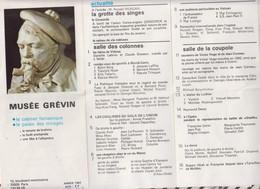 81110 Petit Dépliant MUSEE GREVIN 1982 - Programme
