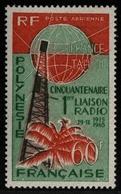 Franz. Polynesien 1965 - Mi-Nr. 51 ** - MNH - Radiofernverbindung - Französisch-Polynesien