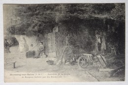 Cpa Morsang-sur-Seine, Grotte De Rougeau Habitée Par Des Bûcherons, 1921, Essonne - Autres Communes