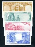 Série De 4 Billets Scolaires école 100F Corneille 50F Racine 10F Voltaire 5F Pasteur - School Bank Note - Specimen
