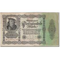 Billet, Allemagne, 50,000 Mark, 1922-11-19, KM:79, TB+ - [ 3] 1918-1933 : Weimar Republic