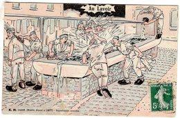 Scenes Militaires - E.R. Paris - 'Au Lavoir'  -  CPA - Humoristiques