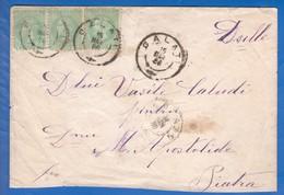 Rumänien; 1886; Brief 3xMichel 38; Stempel Peatra, Piatra Neamt Und Galatz, Galati - 1881-1918: Carol I.