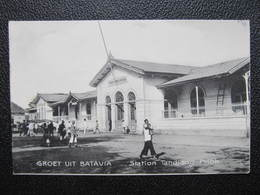 AK BATAVIA Station Tnadjong Priok Bahnhof Ca.1910 Indonesia Java  //  D*36174 - Indonesien
