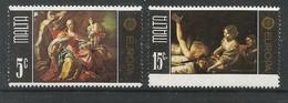 Malta 1975  Mi.Nr. 512 / 513 , EUROPA CEPT Gemälde - Postfrisch / MNH / (**) - Europa-CEPT