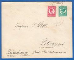 Rumänien; 1938; Brief Michel 379U Und 384U; Stempel Petroseni - Briefe U. Dokumente