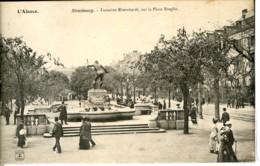 Dpt 67 Strasbourg Fontaine Rheinhardt Sur La Place Broglie Animee 1905 EVT TBE - France