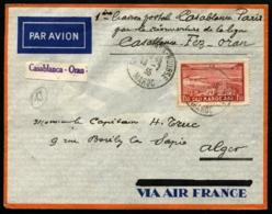 MAROC - 1ère Liaison Postale CASABLANCA/PARIS 16/7/35 - Vol CASABLANCA/ALGER - TB - Poste Aérienne