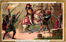 9 Cards Litho  C1900 Chromos Cacao Bensdorp's , Cartes : FRance Histoire, Clovis, Templiers Tempeliers Croisade - Chocolate