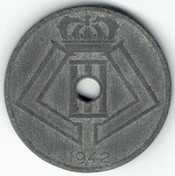 Belgium, 25 Centimes 1942 (FR-NL) - 1934-1945: Leopold III