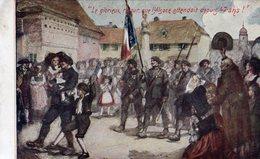 'Le Glorieux Retour, Que L'Alsace Attendait Depuis47 Ans!'   -  CPA - Heimat