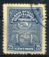 ESPAÑA. COLEGIO REGISTRADORES DE LA PROPRIEDAD. CATÁLOGO ALEMANY-EDIFIL CAPITULO VI (PAG.60) Nº13. USADO - Fiscales