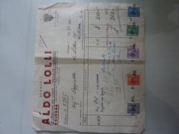 """Fattura """"ALDO LOLLI  LAVORAZIONI DEL LEGNO IMBALLAGGI - BOLOGNA"""" 1942 - Italia"""
