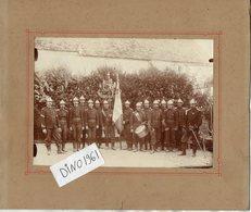 PHOTO 442 - MILITARIA - Photo Originale 18 X 13 - Cie Des Sapeurs Pompiers De COUILLY Et SAINT - GERMAIN ( S & M ) - Krieg, Militär
