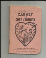 """SCOUTISME . 1939 . """" LES COEURS VAILLANTS DE FRANCE """" . CARNET DU CHEF D EQUIPE .DEUX CARNETS DANS UN . - Scoutisme"""