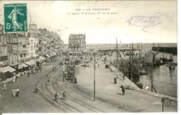 Dpt 76 Le Treport Bateaux Au Quai Francois 1er - Attelages No180 Animee 1910 EVT BE - France