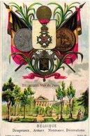 8 Cards Litho  C1900 Chromos Drapeaux Armes Monnaies DECORATIONS, C1880, Italy Gemany, Russia, Espagne - Before 1871