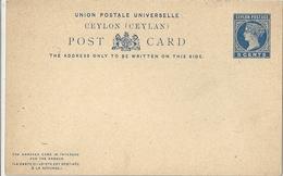 Inde Entier Postal - Sri Lanka (Ceylon) (1948-...)
